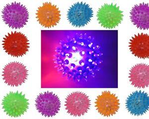 12x LED Leuchtball Flummi Stachelball Gummiball Springball LED Licht Mitgebsel