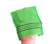 4 PCS Korean Style Italy Towel Exfoliating Bath Washcloth Viscose Scrub Mitten