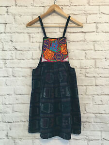 Handmade Women's Floral Embroidered Mexican Dress - Size XS - Bohemian