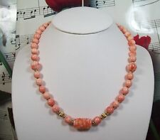 Natural Pink Coral Necklace 18 Inches.CN001