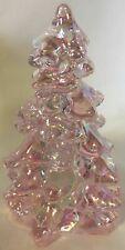 "Christmas Holiday Tree - Mosser USA - Pink Carnival Glass - Small 2 3/4"""