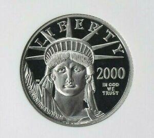 2000 W ~ $25.00 ~ 1/4 ~OZ ~ PLATINUM AMERICAN EAGLE ~ NGC ~ PF~70 ~UCAM~ $688.88