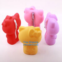 TRENDY JAPAN HELLO KITTY STAND UP CANDY SILICONE 3D PENCIL CASE COSMETIC BAG