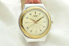 Schöne Swatch Irony Uhr Armbanduhr mit Armband in rot