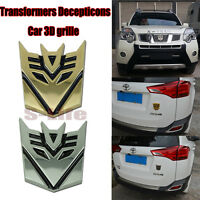 Autobot Transformers 3D Metal Car Grill Emblem Badge Truck Decal Body Sticker