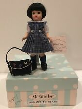 "Madame Alexander Doll Fall ""Off to Class"" #35645 NIB w/stand"