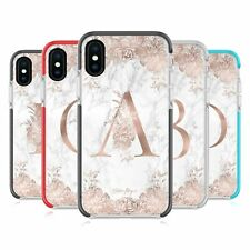 NATURE MAGICK ROSE MARBLE MONOGRAM BLACK SHOCKPROOF BUMPER CASE FOR iPHONE PHONE