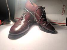 Vintage Allen Edmonds Park Avenue Captoe  Oxfords Size 9 D Burgundy Calfskin