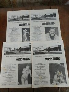 Lot of (19) Vintage 1976 NWA Wrestling Programs MIAMI BEACH CONVENTION CENTER