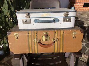 Koffer Überseekoffer Reisekoffer Oldtimerkoffer 2 Stück Antik