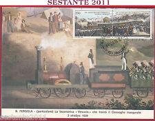 ITALIA MAXIMUM MAXI CARD FERROVIA NAPOLI  PORTICI LOCOMOTIVA VESUVIO 1989 C20