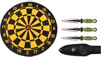 Z-Hunter 155SET Throwing Fixed Blade Knife Set + Target Board + Sheath