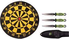 """Z-Hunter 155SET Throwing Knife Set w/Target Board & 3 Steel 6.5"""" Spear Knives"""