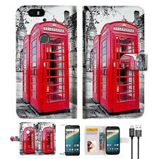 British phone Booth Wallet Case Cover For Google Nexus Pixel 2 XL-- A025