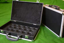 BRAND NEW BLACK CLASSIC SNOOKER MATCH FULL SIZE BALLS ALUMINIUM CASE