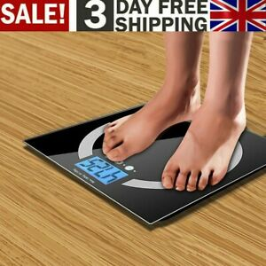 180KG Digital LCD Electric Bathroom Personal Scales Glass Weighing Scale Stones