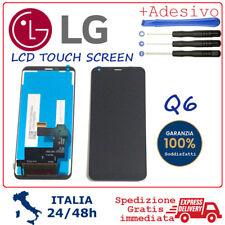 """DISPLAY LCD PER LG Q6 M700A Q6+ PLUS M700H TOUCH SCREEN SCHERMO VETRO 5.5"""" NERO"""