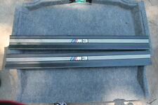 BMW E36 M3 COUPE Door Sill Entry Strips Trim Set BLACK