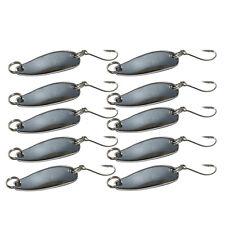 Lot 10pcs Metal Fishing Lures Bass CrankBait Spoon Crank Bait Tackle Silvery New
