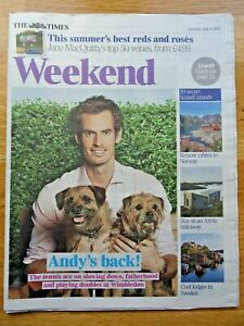 2019 Times Newspaper Supplement - Andy Murray Tennis Ace Cover - July 6