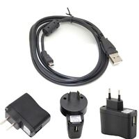 USB AC/ Power Adapter Camera Battery Charger+PC cable ForNikon Coolpix S4000 sx