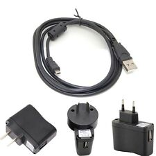 USB AC Power Adapter Battery Charger+PC cable For CasioExilim EX-ZS5 Camera sx