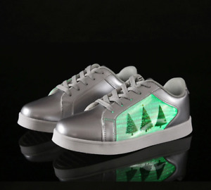 Light up Trainers i Fibre Optic Panel Shoes Kids Adults Christmas Day 7 Colours