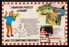 "PUB /  PUBLICITE  ADVERTISING  "" TINTIN  "" Hergé -  Vintage 80 's - Andros"