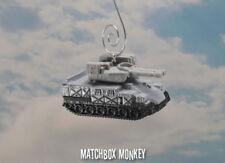 US Army Tank Custom Christmas Ornament 1/64 Adorno Gray Battle Sherman Bradley