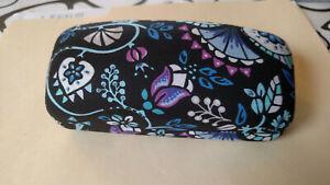 Vera Bradley Flower Floral Eyeglass Sunglass Clamshell Hard Case
