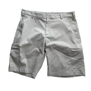 nike golf dri fit gray shorts Men's size 34