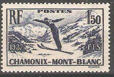 France - 1937 Chamonix-Mont Blanc Skiing Week Sg567 MNH ( Cat. £10.00p )