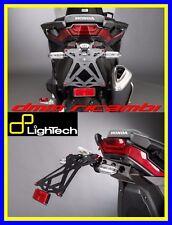 Portatarga LighTech HONDA X-ADV 750 17 supporto targa regolabile + luce led 2017