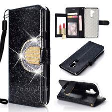 For LG Stylo 4 K10 Moto G6 Sony Glitter Luxury PU Leather Wallet Flip Stand Case