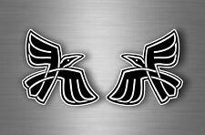 2x sticker car decal biker tuning viking raven odin crow pagan wiccan gothic r1