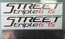 Street Triple 675 Fairing Decals / Stickers (NEW LOGO) (Any Colour)