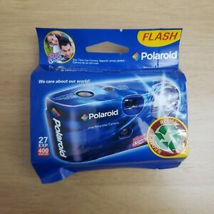 Polaroid Fun Shooter Flash 400 Camera 27 Exposure Disposable Exp Date 8/2010
