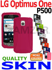 AMZER Silicone Jelly Soft Skin Case Screen Protector For LG Optimus One P500