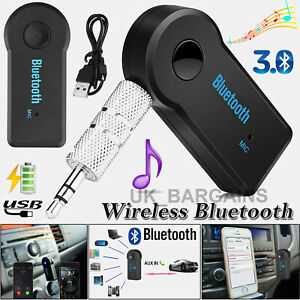 2021 Wireless Bluetooth AUX Audio Receiver 3.5 mm Stereo Music Car Adapter & Mic