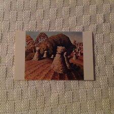 Grant Wood Iowa Corn Field Postcard Unused