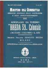 BREDA 39 Ba19 Coloniale Colombo CA195 AIRCRAFT AERONAUTICA FLIGHT Manual - DVD