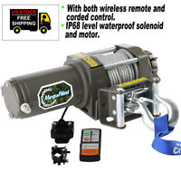 3500LBS 12V Electric Recovery Winch ATV UTV Truck Trailer Offroad Remote 4WD NEW