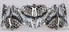 Angel Wings Stretchy Cuff Bracelet Crystal Rhinestone Fashion Silver-gray BD18