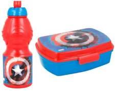 Captain America Boîte de Déjeûner Bouteille à Boisson Boîte à Sandwich