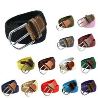 Elastic Belts For Women Braided Fashion Woven Leather Canvas New Fabric Summer