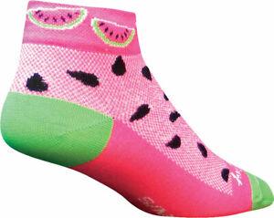 SockGuy Women's Classic Watermelon Low Socks | 1 inch | Pink | S/M