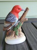 VINTAGE LEFTON Japan HANDPAINTED BIRD FIGURINE WOODPECKER 4206