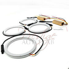4x 106mm Cotton LED Angel Eye Halo SWITCHBACK Light Ring lamp DRL-White Xenon
