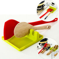 Kitchen Plastic Spoon Pot Lid Shelf Cooking Storage Home Tool Stand Holder ME