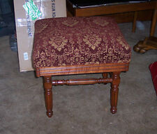 Solid Cherry Adjustable Organ Stool / Piano Stool. (St74)